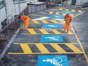 Realizzazione parcheggio disabili